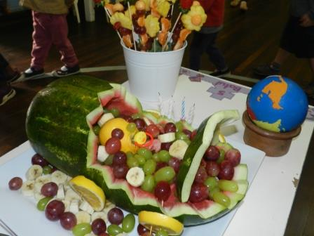 Birthday fruit platter
